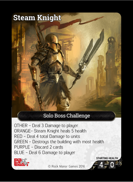 Steam Knight PAX East Promo Card