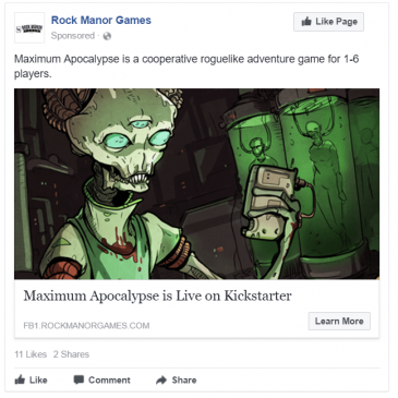 Advertising your Kickstarter on Facebook
